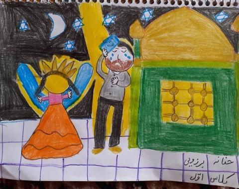 نمایشگاه مجازی نقاشی ماه رمضان _دانش آموزان کلاس اول